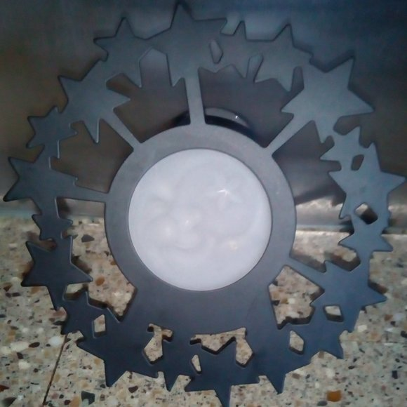PartyLite Retired Moon/Stars Tealight Sconce